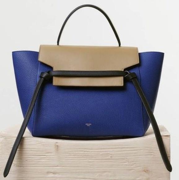 7d1f88bf18 Celine Handbags -  2550🎀Celine🎀Mini Belt Tricolor Leather Tote Bag